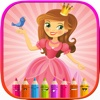 A Coloring Book of Princess for Children and Preschool: Edu Paint Learn to Draw, Color and shapes