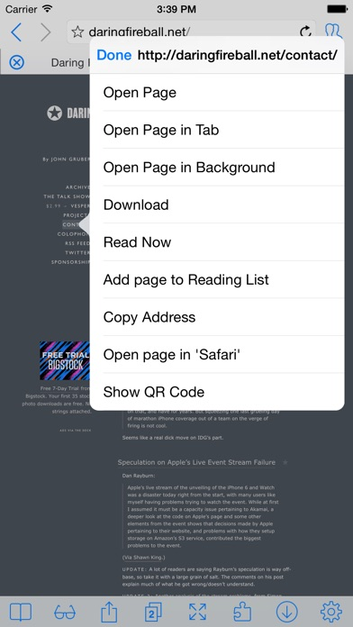 iCab Mobile (Web Brow... screenshot1