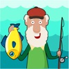 Старик Охота Гонка рыбы в зависимости от времени