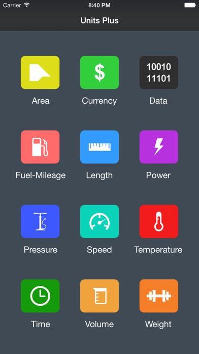 Units Plus Converter - Convert Any Unit & Currency Screenshot