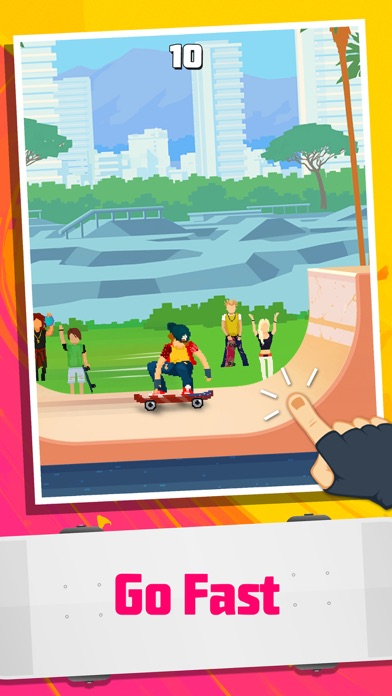 Halfpipe Hero - Retro Arcade Skateboarding Screenshot