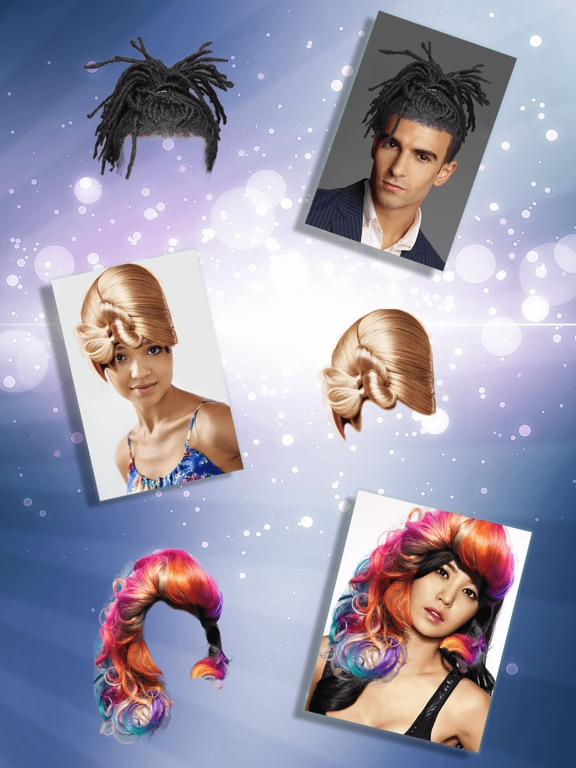 Funny Hairstyles Photo Booth Hair Changer Game-ipad-1