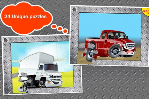 Trucks Jigsaw Puzzles: Kids Trucks Cartoon Puzzles screenshot 3