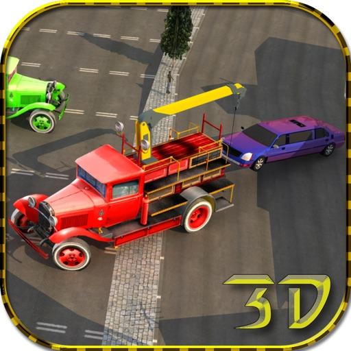レッカー車の駐車場 - 都市車のけん引シミュレーターのゲーム