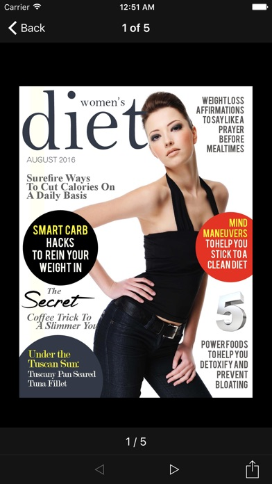 Womens Diet Magazine review screenshots