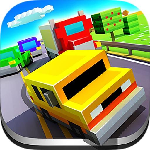 Pixel car racer : 8-bit Blocky Car Racing iOS App