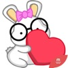 NERDY BUNNY (Animated) stickers by CandyA$