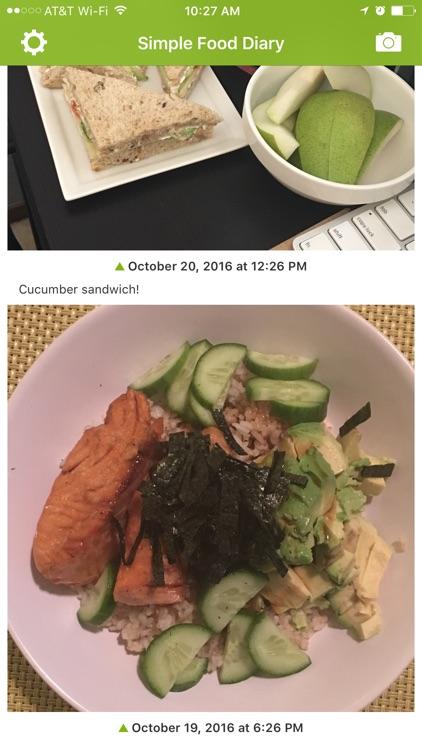 simple food diary screenshot 0