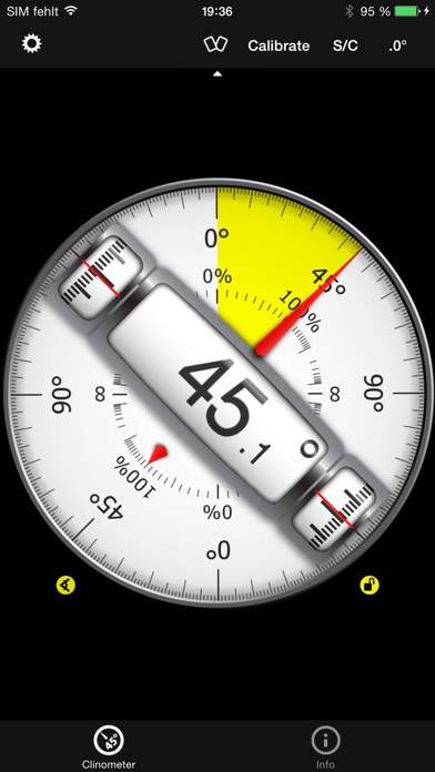 Clinometer + bubble level Screenshots