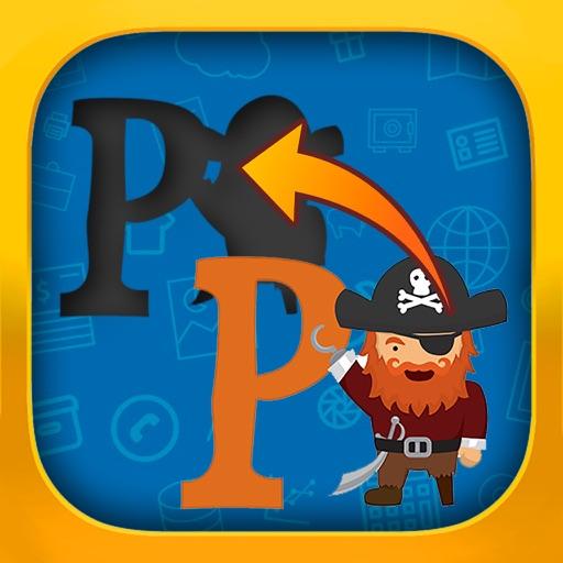 Puzzle for kids - Pirate Alphabet iOS App