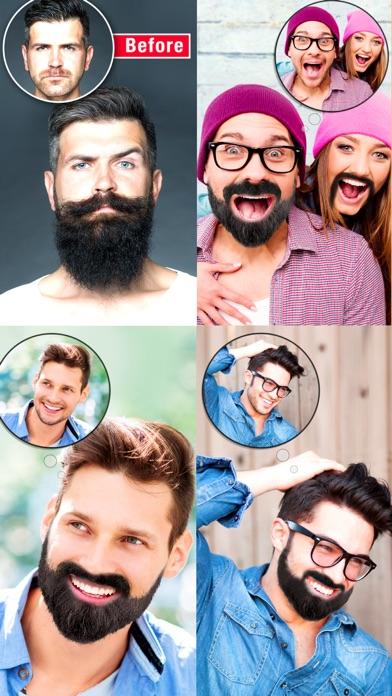 Mooch Beard Mustache Photo Editor For Men Face App Price Drops - Hairstyle beard app