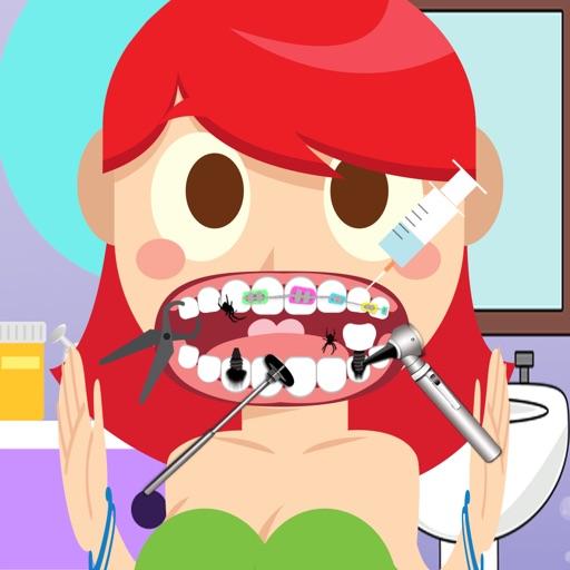 Mermaids Girl Dentist Doctor Game for Little Kids iOS App