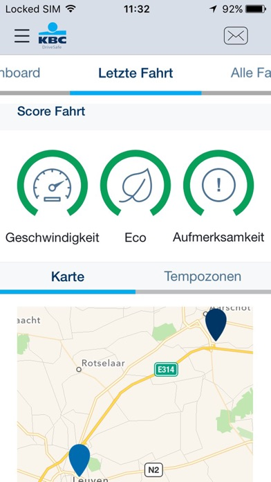 Screenshot von KBC DriveSafe4