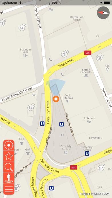 Prague Déconnecté carte et guide de voyageCapture d'écran de 3
