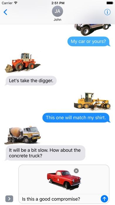 Car Truck Digger Stickersのスクリーンショット1