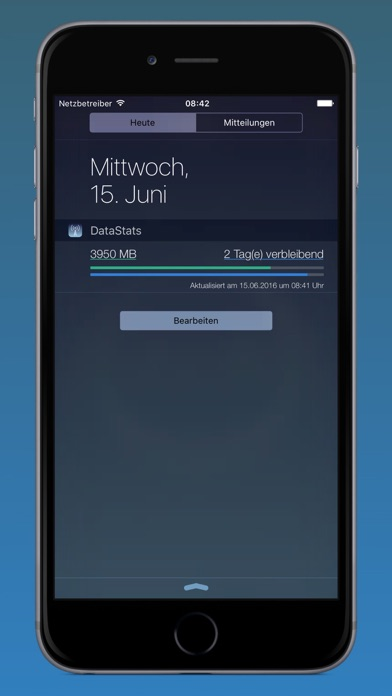 DataStats - Dein Datenverbrauch mit Today-Widget Screenshot