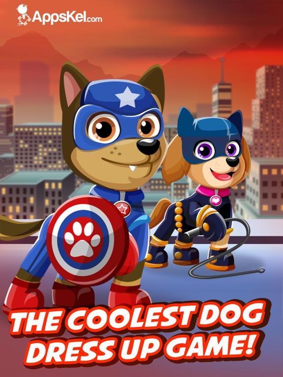 Screenshots of Super Hero Pet Patrol Creator – Go Dress Up Superhero Dogs Games Free for iPad