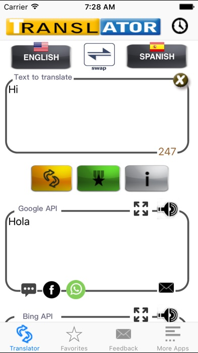 Spanish Translator Pro screenshot1