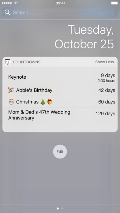 Countdowns - mit Widget Screenshot