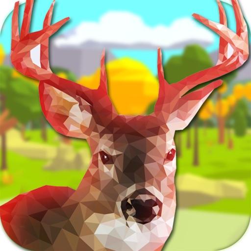 Low Poly Deer Hunter - pixel gun sniper shooting iOS App