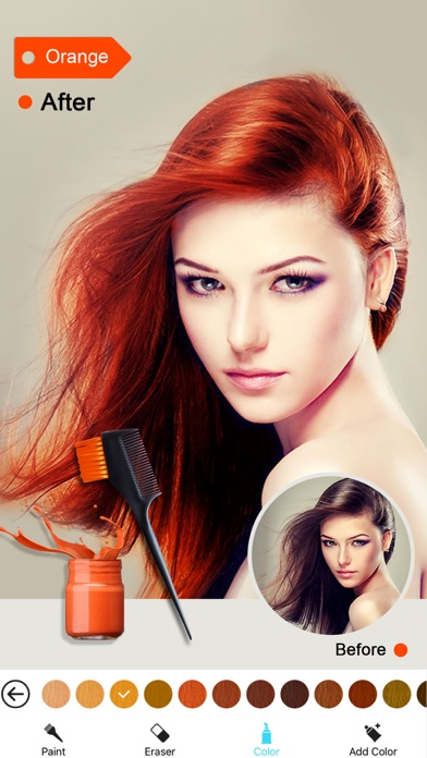 Hair Color Dye -Switch Hairstyles Wig Photo Makeup on the App Store