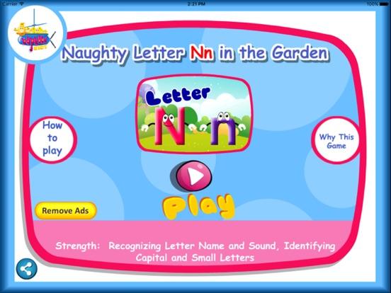 naughty letter nn in the garden on the app store