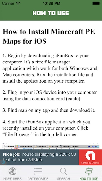 How to download minecraft pe maps on ios without computer