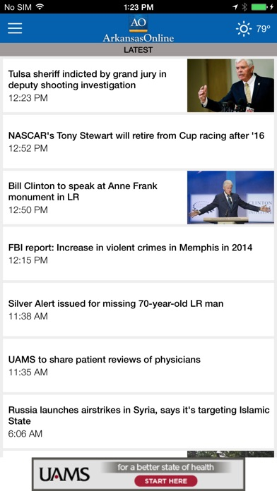 Screenshots of Arkansas Online Mobile for iPhone