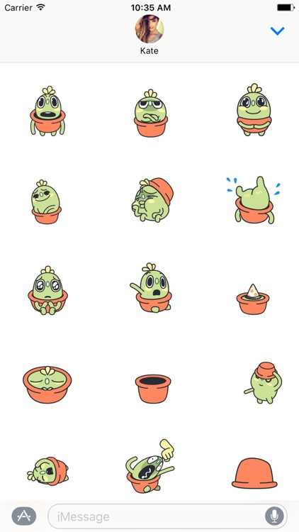 Animated Sarcastic Cactus Sticker by Khoi Lai