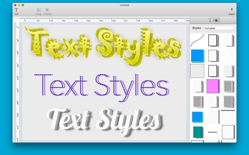 Text Styles Screenshot