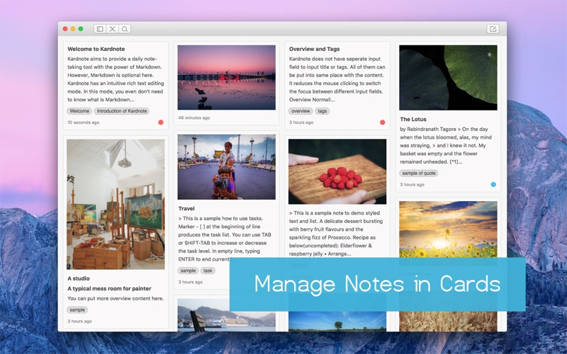 Kardnote - Daily Note-Taking with Markdown Screenshots