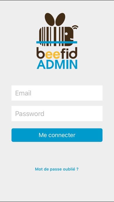 Beefid AdminCapture d'écran de 1