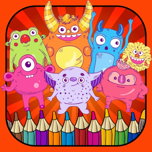 Coloringbook monster free crayon games for toddler iOS App