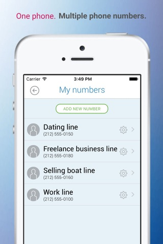 AddaLine - Multiple Phone Numbers On Your Phone screenshot 4