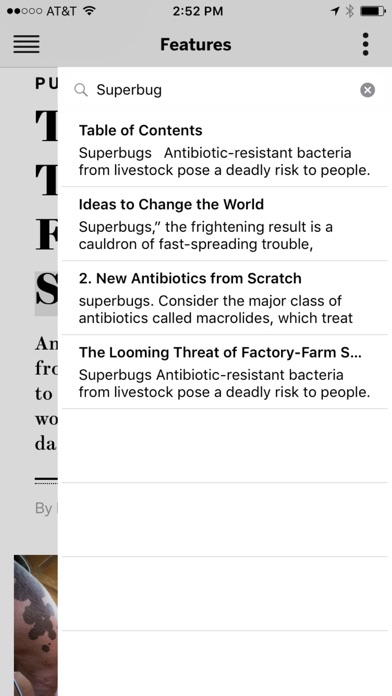 Screenshot 3 for Scientific American's iPhone app'