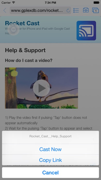 Rocket Video Cast | Chromecast Screenshot