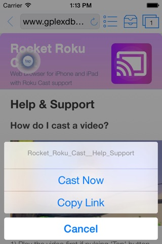 Rocket Video Cast for Roku - Stream Movies to TV screenshot 1