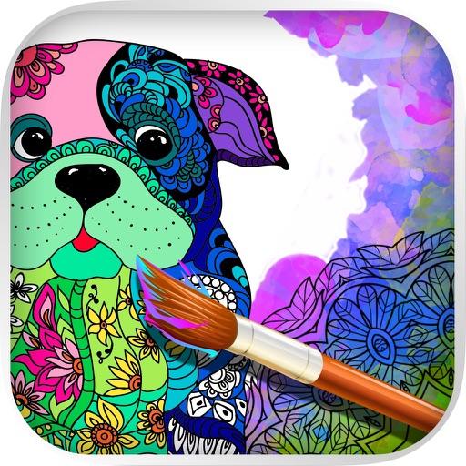 Mandalas De Perros Libro Para Colorear Adultos Por Valenapps