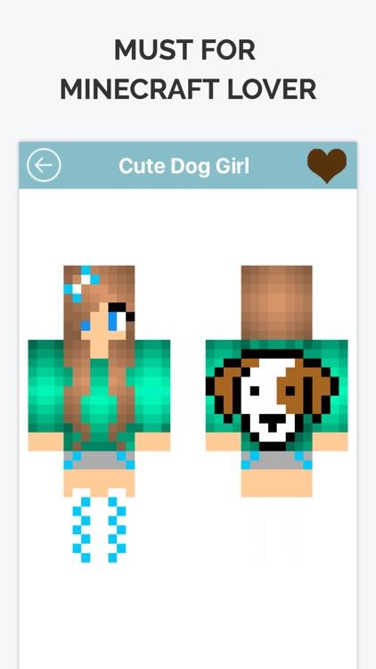 minecraft pe dog girl skins