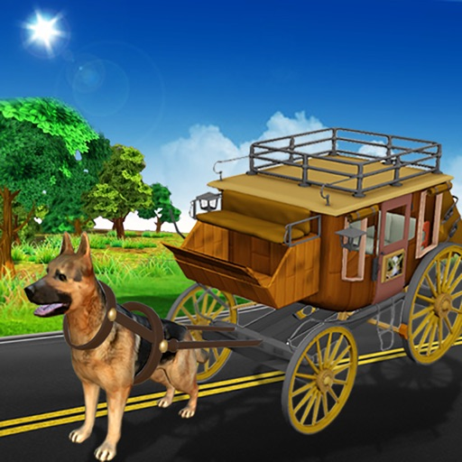 Drive Dog Buggy Taxi:  Dog Cart driving simulation iOS App