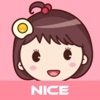 للاي فون / آي باد / آي بود Yolk Girl Pro - Cute Stickers by NICE Sticker تطبيقات