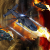A Helicopter Driving Fast In Combat - A Helicopter Hypnotic X-treme Game App