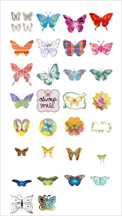 Две бабочки стикер Pack!Скриншоты 1
