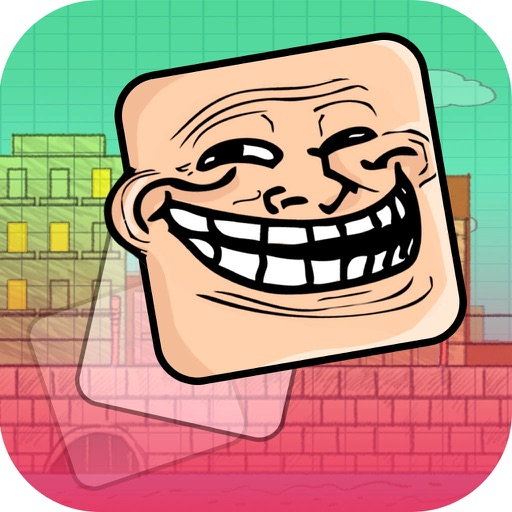 Gravity Troll Face For Free Icon