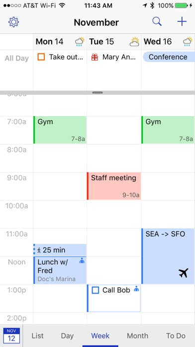 BusyCal - Calendar, Reminders & To Dos Screenshot