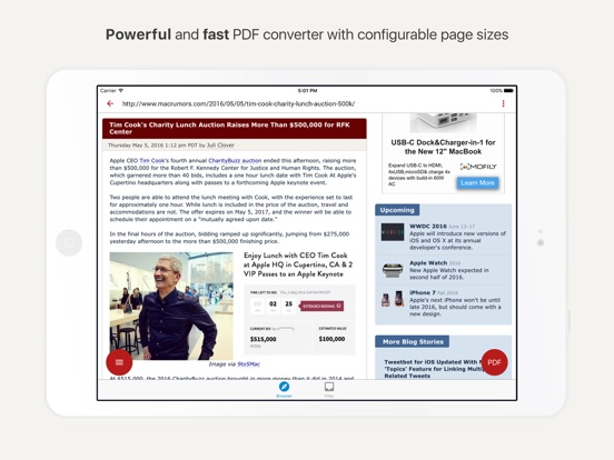 Easily convert to and from PDF in seconds