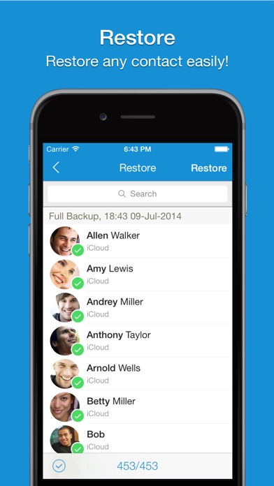 Screenshot #10 for Easy Backup - Contacts Backup Assistant