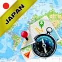 Japão - Mapa Offline e Navegador GPS icon
