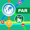 Paris City Maps - Discover PAR with Metro & Bus Apps gratis for iPhone / iPad