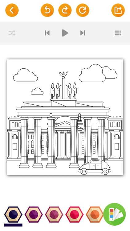 Big Cities Famous Places Adults Coloring Book Screenshot 3